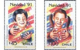 Ref. 303499 * MNH * - CHILE. 1991. CHRISTMAS . NAVIDAD - Christmas