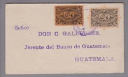 Guatemala 1897-07-08 6 Cent GS + 6 Cent Zusatzfr. - Guatemala