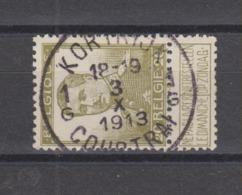 COB 112 Oblitération Centrale KORTRIJK 1G - 1912 Pellens