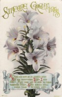 AR71 Greetings - Sincere Greetings - Lillies - Holidays & Celebrations