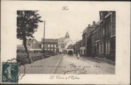 CPA Hem Le Centre Centre Et L'église 59 Nord Semeuse Ambulant Wattrelos à Lille Juin 1911 - France