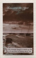 AR71 Greetings - Thought Of You - Boats, Seashore, RPPC - Holidays & Celebrations