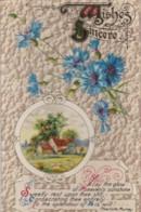 AR71 Greetings - Wishes Sincere - Cornflowers, Farm Scene - Holidays & Celebrations