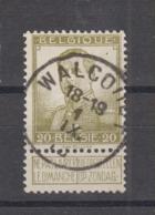 COB 112 Oblitération Centrale WALCOURT - 1912 Pellens