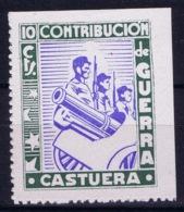 Spain: Castuera Contribution De Guerra - Vignetten Van De Burgeroorlog
