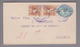 Guatemala 189?-03-?? GS 2 Cents + 2x2 Cents Nach Guatemala - Guatemala