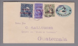 Guatemala 1900-02-18 GS 2 Cents + Zusatzfrankatur - Guatemala