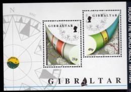 GIBRALTAR GIBILTERRA 1991 1992 ROUND THE WORLD RALLY BLOCK SHEET BLOCCO FOGLIETTO MNH - Gibilterra