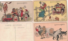 CARTOLINA PUBBLICITARIA POST CARD CARTE POSTALE  .CHAUSSURES RAOUL - Pubblicitari