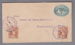 Guatemala 1896-05-20 Coban 2 Cents GS + 2x2 Cents Zusatzfrankatur - Guatemala