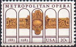 USA 1983 20¢ Metropolitan Opera Centenary - Unused Stamps