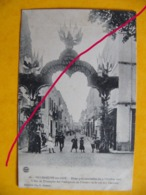 Villeneuve Sur Lot  Fêtes Présidentielles 3 Octobre 1907 L'arc De Triomphe Des Prévoyants De L'avenir  .. - Villeneuve Sur Lot