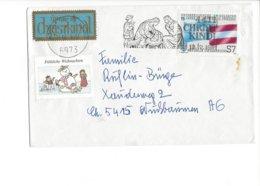 22503 - Christkindl 1981 Cover Pour Nüssbaumen 12.12.1981 + Vignette - Noël