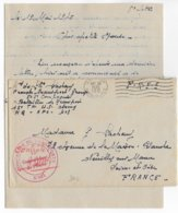 1945 - LETTRE De La CIE De TRANSPORT FRANCAISE INTEGREE à L'ARMEE AMERICAINE ! MECA US ARMY => NEUILLY - LIBERATION - Marcophilie (Lettres)