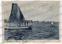 1940 - MIRAMARE DI RIMINI - Barca A Vela Pin Up - Rimini