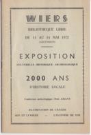 WIERS - PROGRAMME EXPOSITION 1972 - Programmes
