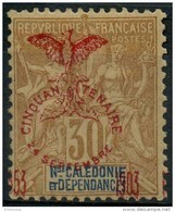 Nouvelle Caledonie (1903) N 76 * (charniere) - Nieuw-Caledonië