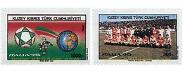 Ref. 51442 * MNH * - CYPRUS. Turkish Adm.. 1990. FOOTBALL WORLD CUP. ITALY-90 . COPA DEL MUNDO DE FUTBOL. ITALIA-90 - Ongebruikt