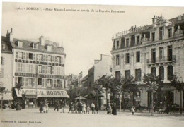 56 - LORIENT - PLACE ALSACE LORRAINE ET ENTRÉE DE LA RUE DES FONTAINES - Lorient