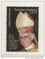 Archevèque Joan Marti Alanis, Co-Prince D'Andorre, Un Timbre-poste Neuf **,  émission Année 2015 - Spaans-Andorra