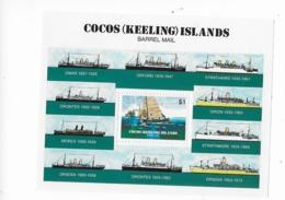 Cocos  Bloc Feuillet N° 2** 75° Anniversaire Du Transit Maritime Par Baril Postal Aux Iles Cocos - Cocos (Keeling) Islands