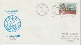 TAAF Marion Dufresne 1985 Lettre Poste Restante Pour La France Oblit. Fort De France - Covers & Documents