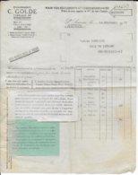 1939 - BON DE COMMANDE EXPEDIE SANS ENVELOPPE CELLOPHANE AVEC ETIQUETTE D'EXPLICATION !! GUERRE MONDIALE - Marcophilie (Lettres)