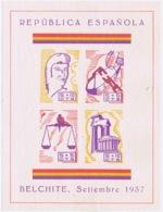 Spain: Republica Espagnol Belchite 1937, Liberty Block  MH/* Flz/ Charniere - Vignetten Van De Burgeroorlog