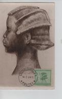 PR7385/ Belgisch Congo Belge TP 107 S/Carte Maximum C.Léopoldville 14/2/34 - Belgisch-Kongo