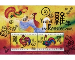 Ref. 171964 * MNH * - CHRISTMAS Islands. 2005. CHINESE NEW YEAR. YEAR OF THE COCK . NUEVO AÑO CHINO DEL GALLO - Astrology