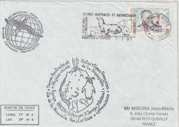 TAAF 1997 Lettre Pour La France - Storia Postale