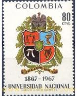 Ref. 177278 * MNH * - COLOMBIA. 1968. CENTENARY OF THE NATIONAL UNIVERSITY OF BOGOTA . CENTENARIO DE LA UNIVERSIDAD NACI - Colombie