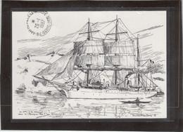 Timbre Groenland Sur Carte Postale Le POURQUOI-PAS? ( Etienne Blandin ) - Non Classés