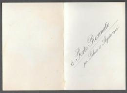PORTO RECANATI - MACERATA - KURSAAL LIDO MESSAGGERO - VEGLIA DELLA STAMPA 1949 - Vecchi Documenti