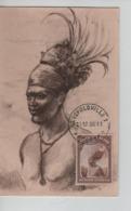 PR7388/  Belgisch Congo Belge TP 177 Folklore & Coutume Local S/Carte Maximum C.Léopoldville 30/12/36 - Belgisch-Kongo