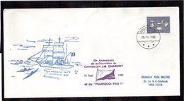 Timbre Groenland Sur Enveloppe  Du 16.9.86 à Scoresbysund.Grand Cachet Illustré Paul Emile Victor. - Non Classés