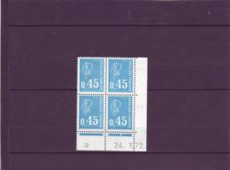 N° 1663 - 0,45F BEQUET - I De H+I - 1° Tirage Du 13.3.72 Au 7.4.72 - 24.03.1972 - - 1980-1989