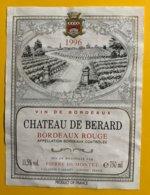 11850  -  Château De Berard 1996 - Bordeaux