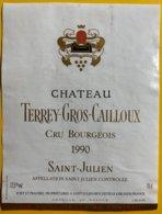 11852  -  Château Terrey-Gros-Cailloux 1990 Saint-Julien - Bordeaux