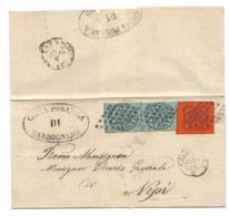 DA CARBOGNANO A NEPI -31.7.1868 - FIRMATA OLIVA. - Stato Pontificio