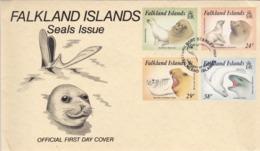 BUSTA FDC - FALKLAND ISLANDS - SEALS ISSUE - ANNO. 1987 - Falkland