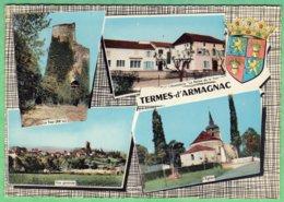 TERMES D'ARMAGNAC - CARTE MULTIVUES - CPSM GRAND FORMAT - France