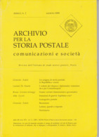 Archivio Per La Storia Postale N. 2 Del 1999 - Letteratura