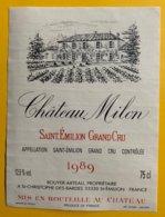 11856  -  Château Milon 1989 Saint-Emilion - Bordeaux