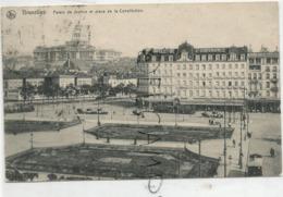 Place De La Constitution Et Palais De Justice En 1911. - Piazze