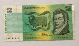 AUSTRALIA P43C  2 DOLLARS  1974.1985 VF - Emisiones Gubernamentales Decimales 1966-...