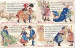 CARTOLINA PUBBLICITARIA POST CARD CARTE POSTALE  CACAO BENSDORP Chansons Enfantines - Publicidad