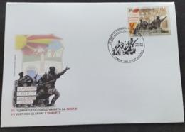 REPUBLIC OF NORTH MACEDONIA, 2019, FDC - 75 YEARS LIBERATION OF SKOPJE / MONUMENT HISTORY WWII ** - Macedonië
