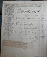 Facture Ancienne - E Jolivard - Robes Soieries- Toulouse - 1889 - 1800 – 1899