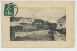 ALÈS - ALAIS (environs) - Mines De SAINT MARTIN - L'Usine Electrique à Gauche - Alès
